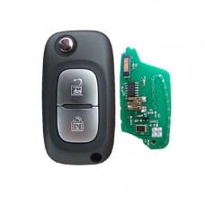 Выкидной ключ RENAULT Duster, Clio | 2014-н.в. | с чипом | ОРИГИНАЛ