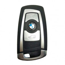 Смарт ключ BMW 2009-2015   PCF7953   F серия   434 MHz   Keyless Go   Silver  ОРИГИНАЛ