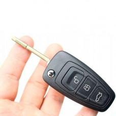 Выкидной ключ FORD Focus, Mondeo, C-max, Grand C-max | 2010-н.в. | с чипом | ОРИГИНАЛ