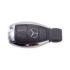 "Ключ MERCEDES A-Class W169 2004-2012 | 3 кнопки | IR-порт | хромированная ""рыбка"""